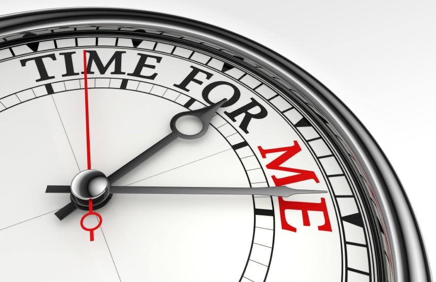 time for me concept clock closeup