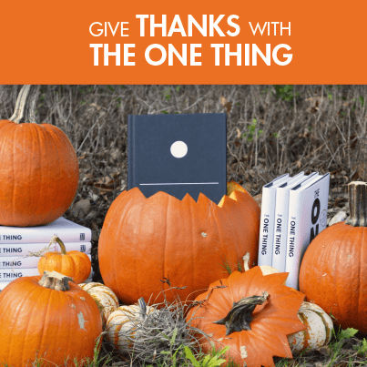 Pack your Carry-on with the Help of The ONE Thing's Thanksgiving Promotion