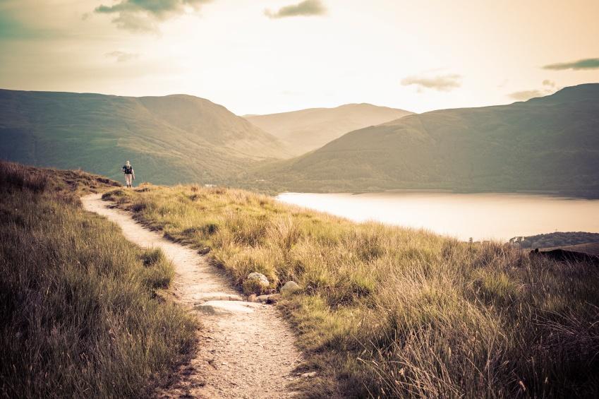 Hiking on Ben Lomond