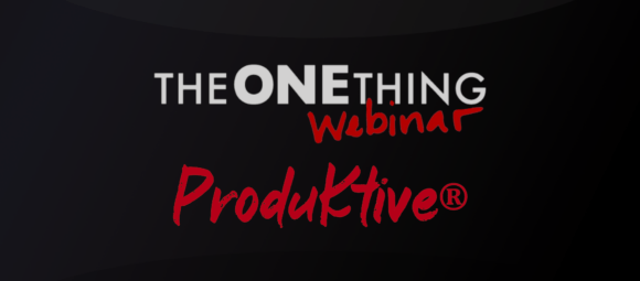 The One Thing Webinar Title Image